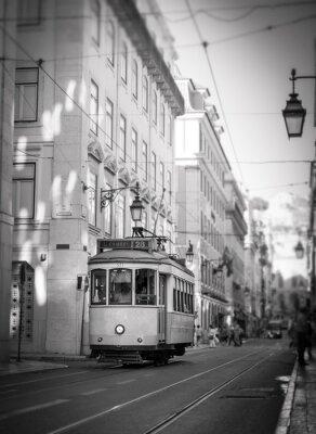 Sticker Tram à Lisbonne, rétro