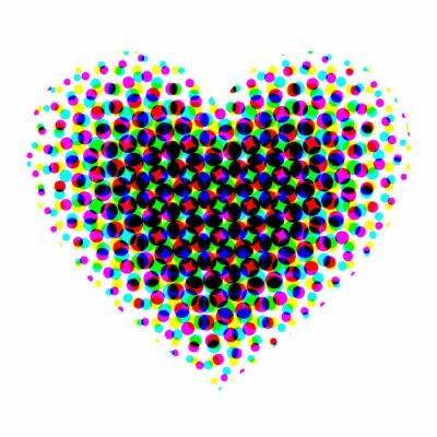 Sticker Tramé de coeur