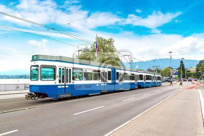 Tramway de la ville à Zurich