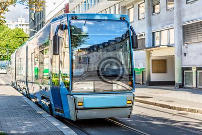 Tramway moderne à Oslo, Norvège
