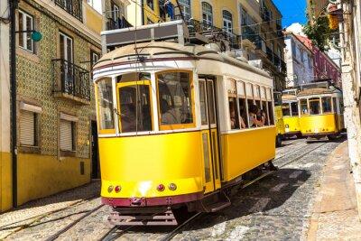 Tramway vintage à Lisbonne