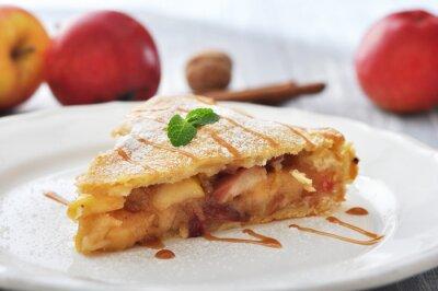 Sticker Tranche de tarte aux pommes maison