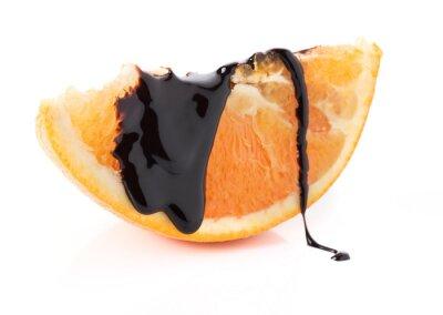 Sticker tranches d'orange avec des fils de chocolat fondu