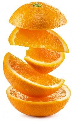Sticker Tranches d'orange sur fond blanc.