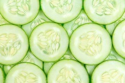 Sticker Tranches de concombre fond