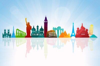 Sticker Travel background skyline