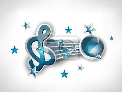 Treble clef avec les notes musicales géométrique abstrait arrière polygonale