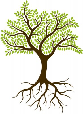 Sticker tree silhouette