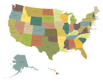 Sticker Très détaillées USA map.Layers politiques utilisés.