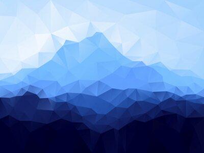 Sticker Triangle, géométrique, fond, bleu, montagne