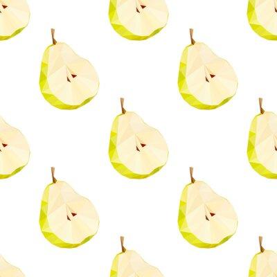 Sticker Triangle polygonale poire illustration vectorielle. Fruit juteux.