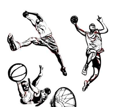 Sticker trio de basket-ball