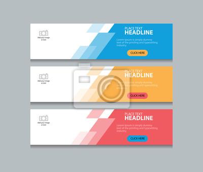 Sticker Trois, couleur, résumé, toile, bannière, conception, modèle