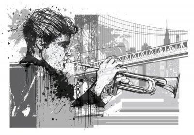 Sticker Trompette à New York (Brooklyn)