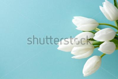 Sticker tulipe blanche