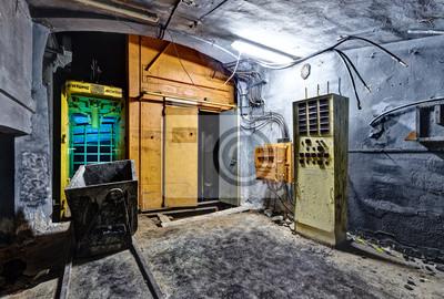 Tunnel, ascenseur, abandonné, charbon, mine