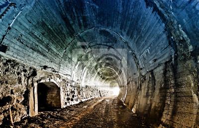 Tunnel de chemin de fer abandonnée dans les montagnes des Carpates