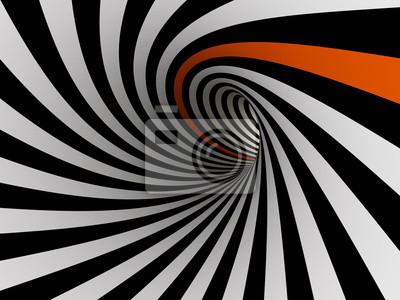 Tunnel de lignes, 3D