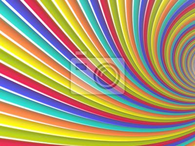 Tunnel de lignes colorées