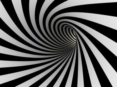 Tunnel de lignes noires et blanches
