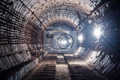 Tunnel de métro. Kiev, Ukraine. Kyiv, Ukraine