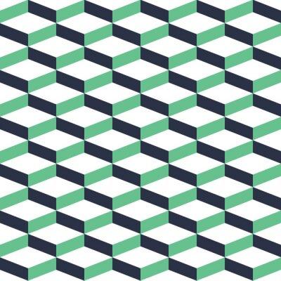 Sticker Turquoise, géométrique, illusion, seamless, modèle