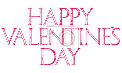 Typographie de lettrage de jour de Valentines heureuse.