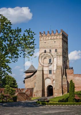 Un des plus célèbres châteaux en Ukraine les - château Lutsk (château Lubart)
