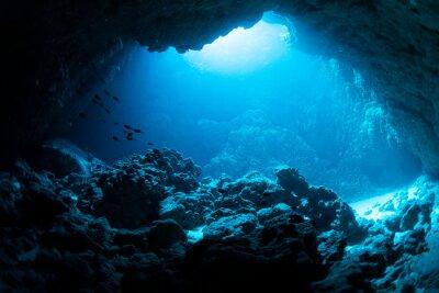 Sticker Underwater cave