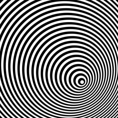 Sticker Une illusion d'optique noir et blanc