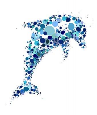 Sticker Une illustration unique et créative d'un dauphin