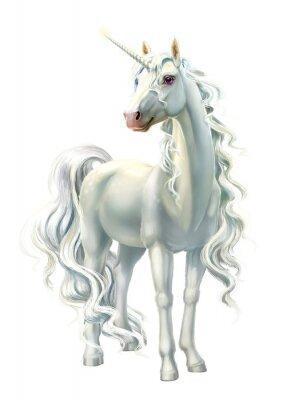 Sticker unicorn, full-length isolated on white