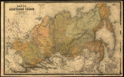 Sticker Union Soviétique, URSS, carte