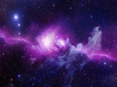 Sticker Univers rempli d'étoiles, nébuleuse et galaxie