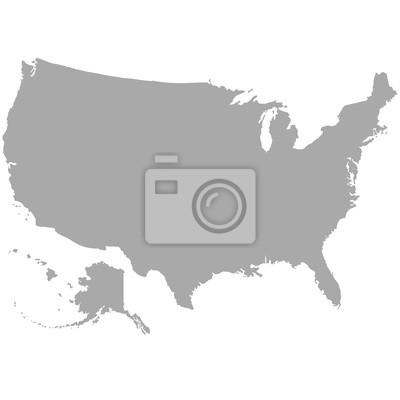 USA, carte, gris, gris, fond