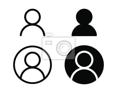 Sticker User profile login or access authentication icon vector illustration image.