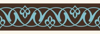 Sticker Uzbek, Ancien, Seamless, frontière