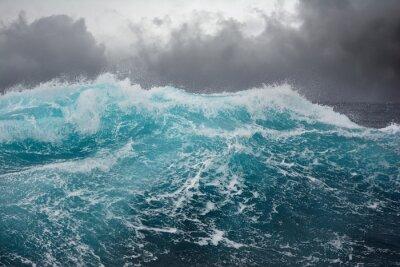 Sticker vagues de la mer dans l'océan Atlantique au cours de la tempête