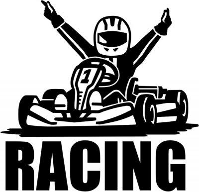 Vainqueur de course - pilote de kart