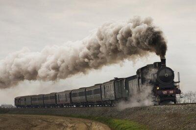 Sticker Vapeur, noir, vapeur, train