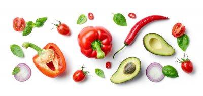 Sticker various fresh vegetables