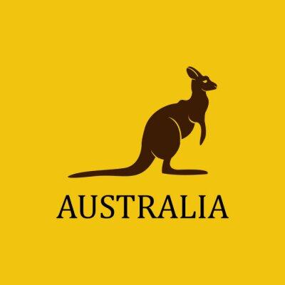 Sticker Vecteur australie kangourou