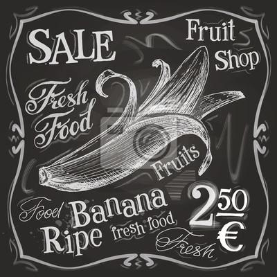 vecteur de la banane de modèle de conception de logo. fruits frais, de la nourriture ou du menu