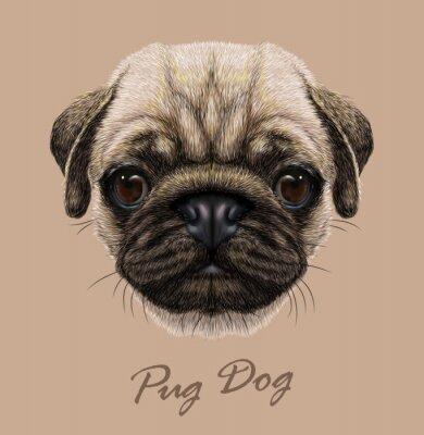Sticker Vecteur illustratif portrait de chien de chien.