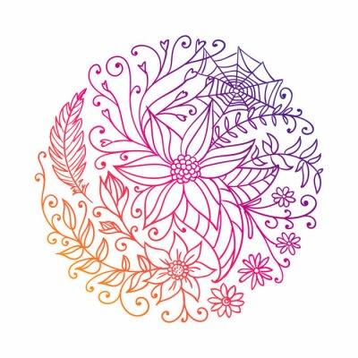 Sticker Vecteur, Illustration, de, a, résumé, décoratif, Cercle
