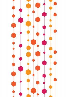 Sticker vecteur résumé des rayures et des formes verticales transparentes colorées