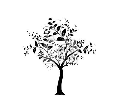 Sticker vecteur série, arbre vectoriel - vecteur série, arbre et les feuilles