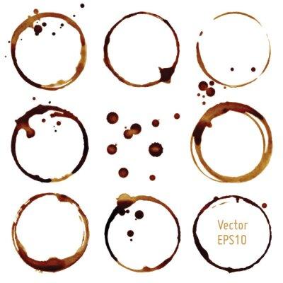 Sticker Vecteur tasse de café taches