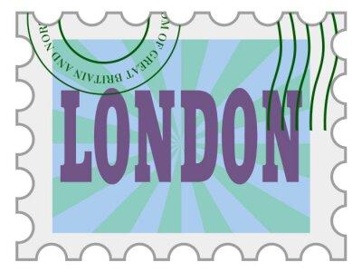 Sticker Vecteur, timbre poste de Londres