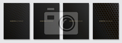Sticker Vector abstract background, creative subtle halftone patterns, geometric gradient texture. Deluxe Minimal pattern design. Dark colors. Modern Cover templates set.